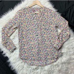 EQUIPMENT femme floral silk button down blouse